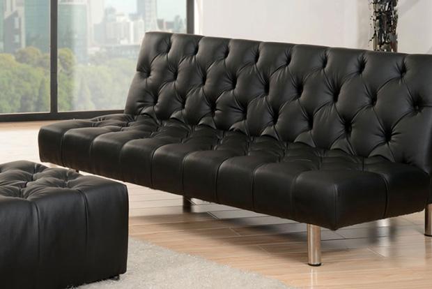 Abbyson Living Sofa Black