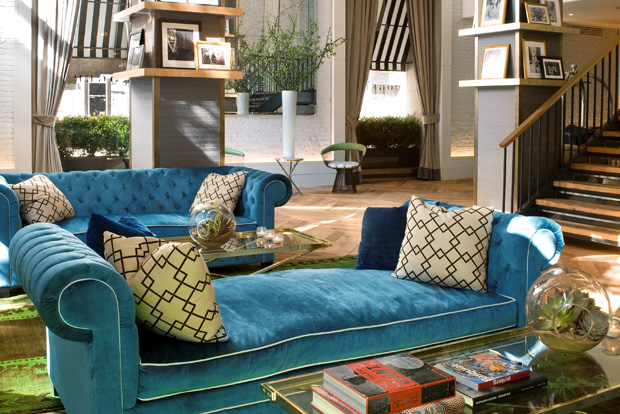 Acclaimed designer Anna Busta designed the chic, inviting atmosphere of the lounge