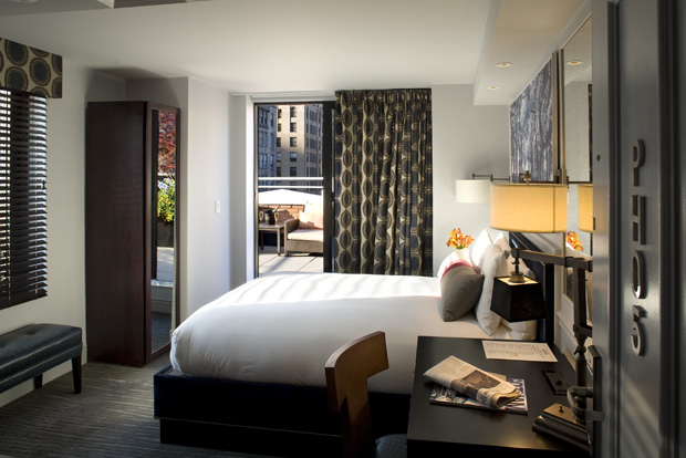 A Terrace Suite at The Roger Hotel in NYC