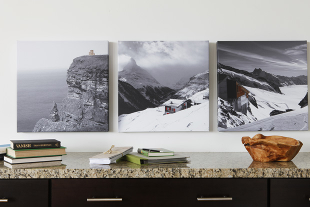 The easy to use design features help you create canvas photo collages for your home