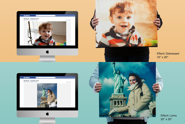 Use CanvasPop to print directly from Facebook with artistic filters