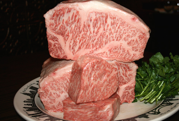 One of the specialties at Old Homestead is a $350 Imported Japanese Wagyu Kobe Beef Steak