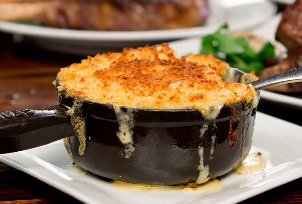 Decadent Truffle Macaroni and Cheese at the Old Homestead Steakhouse