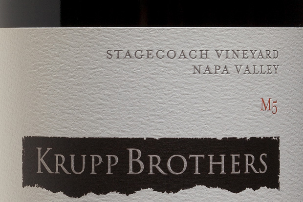 The 2010 Krupp Brothers Stagecoach Vineyards M5 Cabernet Sauvignon