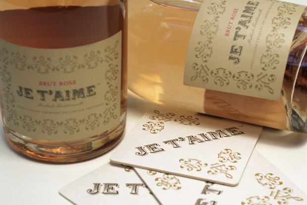 Je T'aime Brut Rose is a fantastic sparkling wine produced and bottled in France
