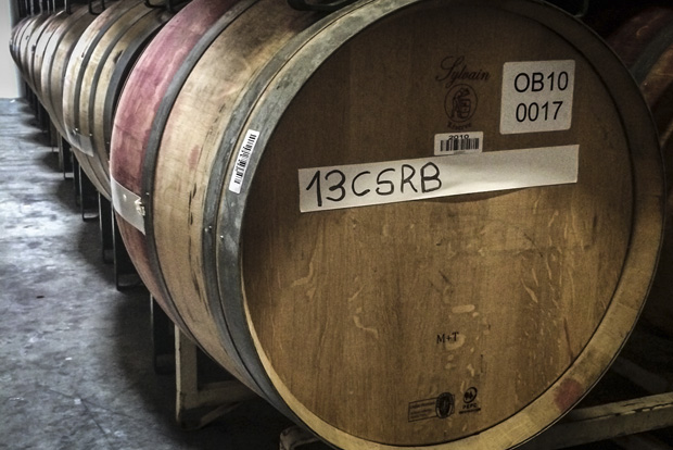 One of the Wine Foundry's custom blends aging to perfection