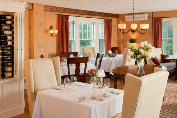 The inviting and intimate dining room at the Sugar Hill Inn