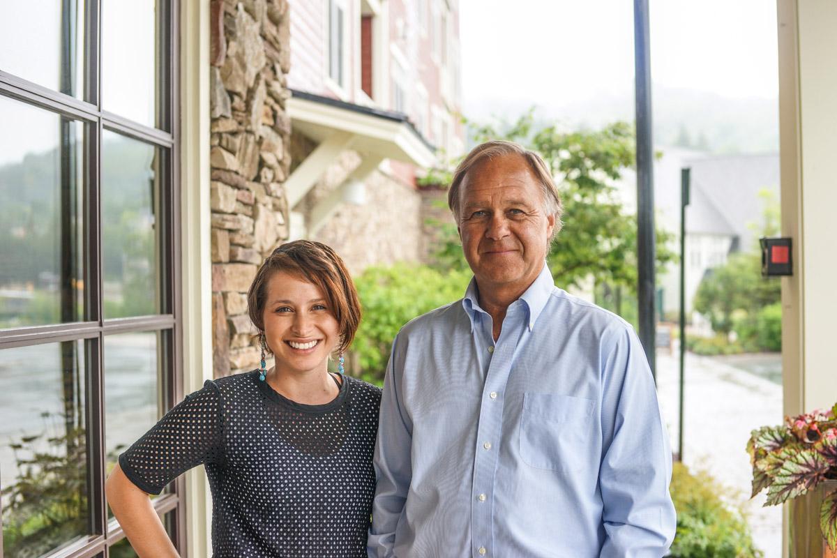 Win Smith with our Editor at Sugarbush Resort