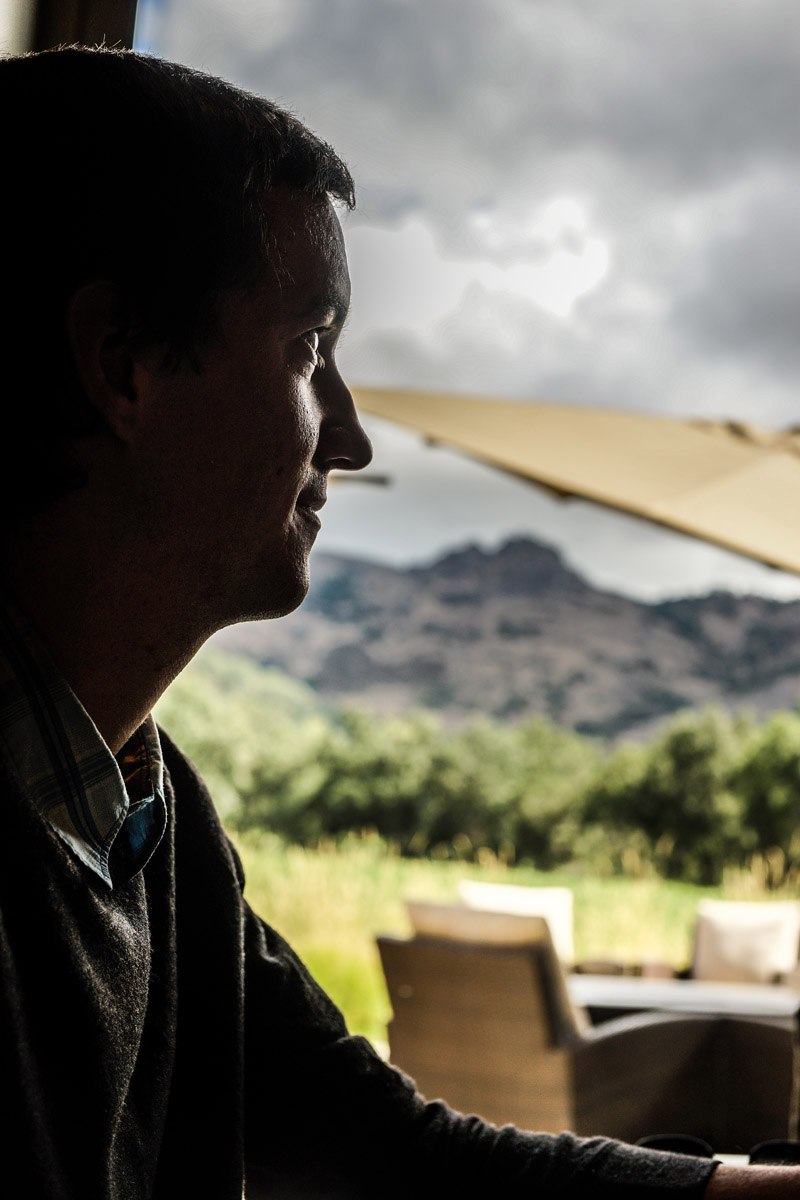 Greg Coit at Stag's Leap Vineyard